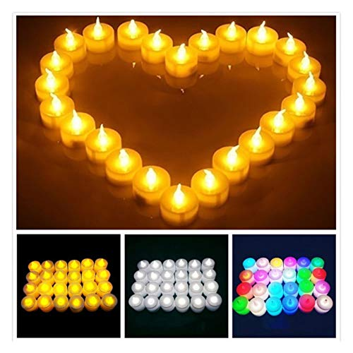 Caigaodz Candle Lights LED Candle Light Flickering Flameless Candle Shape Lamp Lights Romantic Wedding Festival Birthday Party Decoration Night Light (Color : 2pcs, Emitting Color : White Light)
