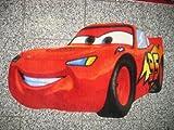 Alfombra infantil de juego para niños, diseño de Cars de Rayo McQueen MC Queen (50 x 80 cm)