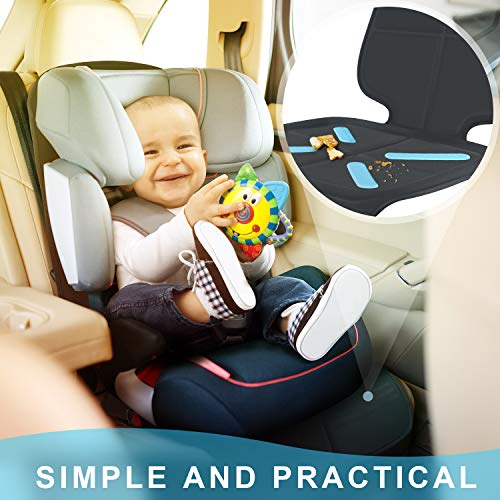 Car Seat Protector for Baby Child Car Seats, Shynerk Auto Seat Cover Mat for Under Carseat to Protect Automotive Vehicle Leather and Cloth Upholstery - Waterproof and Dirt Resistant - for SUV, Sedan