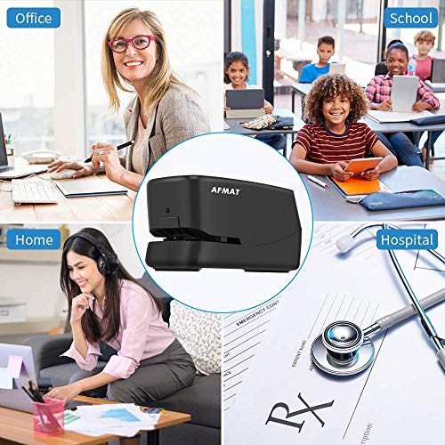 Electric Stapler, Heavy Duty Electric Stapler Desktop, 25 Sheets, Automatic Stapler for Desk, AC or Battery Stapler with Reload Reminder & Release Button, Black Photo #7