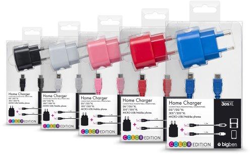 Nintendo 3DS - Rete Caricabatterie, Compatibile con 3DS/3DS XL/DSI, Color Version, Nano Size