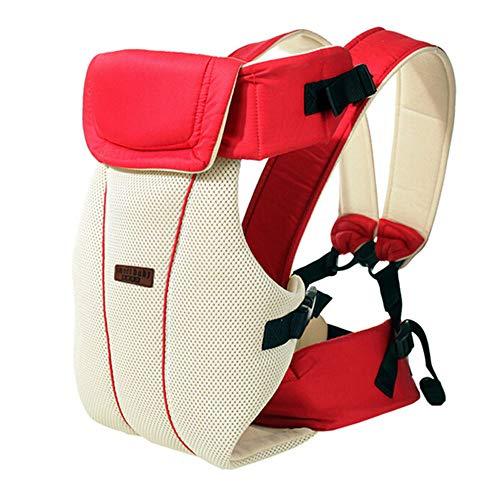 TINERS da 0 A 30 Mesi Baby Sling Traspirante Marsupio Ergonomico Anteriore Carrying Children Kangaroo Infant Zaino Pouch Warp Hip Seat,Red