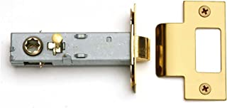 Renovators Supply Manufacturing Reversible Brass Door Knob Latch Set Easy Install with Privacy Pin 2-3/4