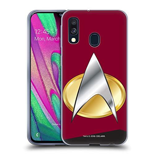 Head Case Designs Offizielle Star Trek Befehl Uniformen Und Plaketten TNG Soft Gel Huelle kompatibel mit Samsung Galaxy A40 (2019)