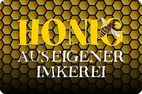 Metalen bord 30 x 20 cm honing uit eigen Imkerei Imker Bijen Metalen bord