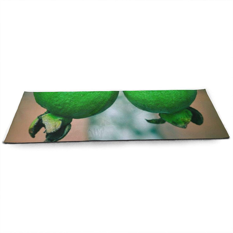 Whages Two Green Guavas NonSlip Soft Advanced Printed Environmental Yoga Mat 31.5   × 51.2