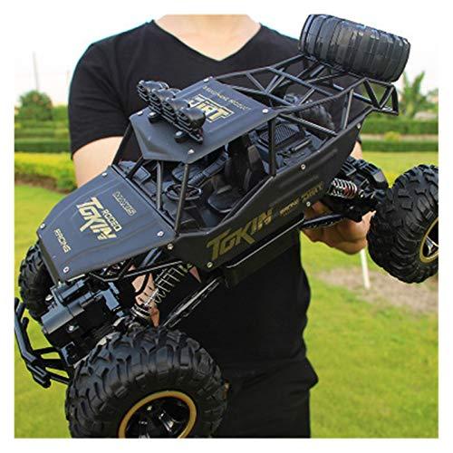 1/16 1/12 RC Auto 4WD Klettern Auto 4x4 Doppelmotoren Drive Bigfoot Fernbedienung Auto Modell Offroad Fahrzeug Schmutz Autos Jungen Kinder (Farbe : 37cm Black)