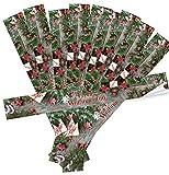 Logbuch-Verlag 10 pegatinas de Navidad XXL con texto en alemán 'Frohe Weihnachten' – marrón, rojo y verde – pegatinas largas para cajas de cartón grandes