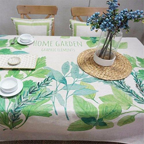 HXC Home groen boomblad minimalistisch tafelkleed katoen linnen rechthoekig ruimte niet strijken milieuvriendelijk tafellaken