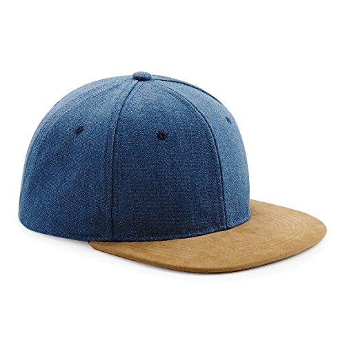 Homme Beechfield Plat Peak rétro Casquette snapback - Bleu -