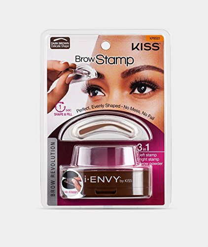 Kiss i-envy brow stamp kit Dark brown Makeup, 1 Count