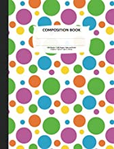 Bright Polka Dots Composition Notebook, Narrow Ruled: Lined Student Exercise Book
