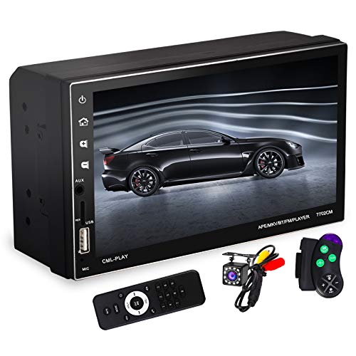 Double Din Car Stereo with 7 Inch Capacitive Touchscreen, Bluetooth Handsfree, 2 Din Car Audio...