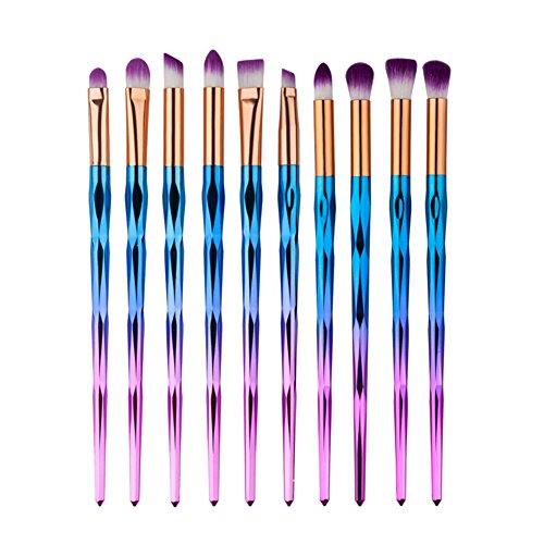 Molie Lidschatten-Pinsel-Set Unicorn, für Eyeliner, Lidschatten, Verblenden, Pinsel, Make-up-Werkzeug, Kosmetikpinsel, 10 Stück im Set