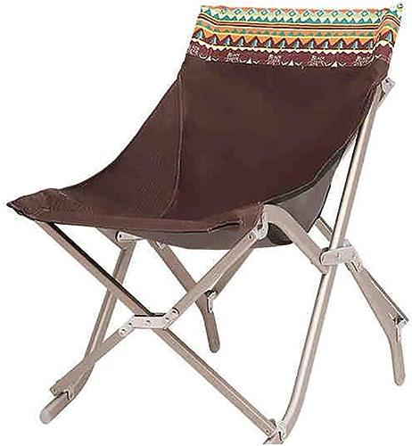 SYTPZ SMQ Chaise Pliante extérieure Chaise paresseuse Portable en Aluminium Chaise de Camping Esquisse de Lune Chaise de pêche sur la Plage Multifonctionnel Pliant de