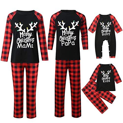 Family Matching Christmas Pajamas Pants Sets Mom/Dad/Children/Baby Xmas Sleepwear Nightwear Outfits