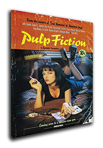 M2M Prints Pulp Fiction pellicola stampa su tela (50 x 12 pollici)