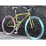 24 bicis de la velocidad de 26 pulgadas de la bicicleta del camino del marco de acero al carbono de alta Bicicletas camino de la bicicleta for las mujeres de los hombres de color adulto Costura Azul R