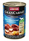 Animonda Nourriture pour Chient Gran Carno  - Anguille fumée + pommes de terre - 6 x 400 g