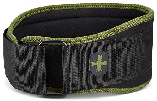 Harbinger 5-Inch Weightlifting Belt with Flexible Ultra-light Foam Core, Green, Medium (29 - 33 Inches)