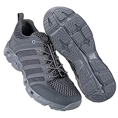 FREE SOLDIER Outdoor Men's Quick Drying Lightweight Sport Hiking Water Shoes (Gray-Upgrade 10.5 M US)