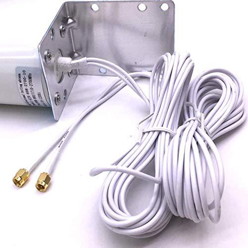 Lood Router Antenne Doppel-SMA-Anschluss 3G 4G LTE Außenhalterung mit Fester Halterung für Wandhalterung Signalverstärkerantenne