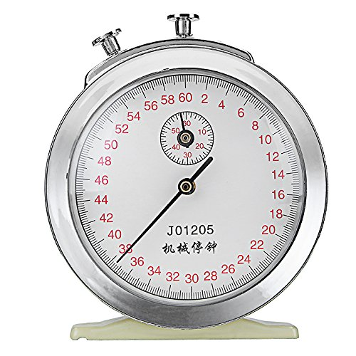 EsportsMJJ Mecánica De Cuerda Reloj Cronómetro 60S 0.2 S 60Min Juego Tiempo Física Temporizador Experimento