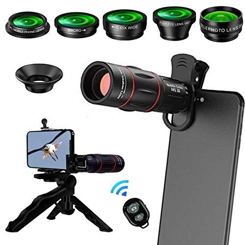 8 en 1 Kit de lentes de cámara para teléfonos Lente...