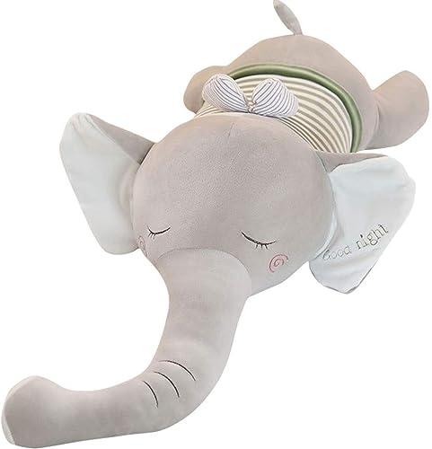 ACZZ éléphant Peluche Jouet éléphant Jouet Enfants 'S Chambre Doux Animal Jouet Enfant' S Dessin Animé Jouet Enfant Sleeping Oreiller Enfants 'S Cadeau Pour Petite Amie,gris,70cm