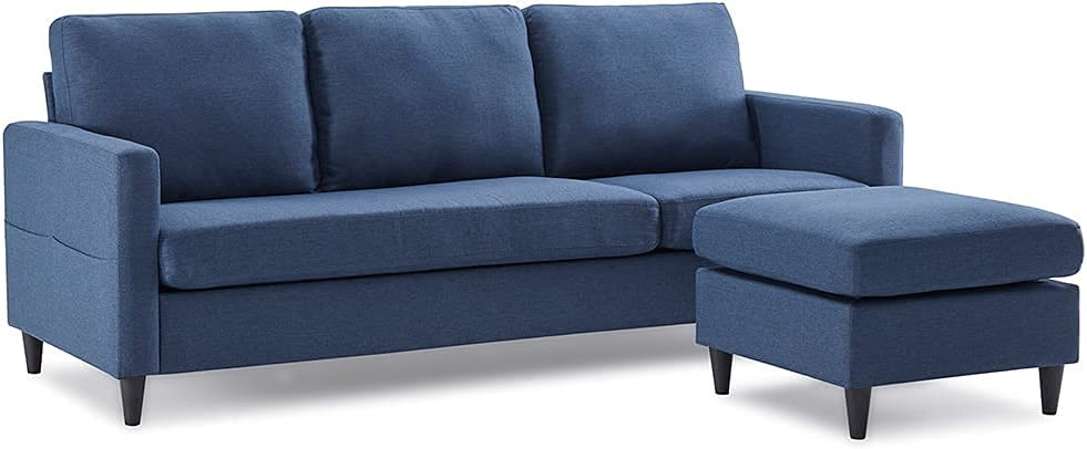 Evazory Couch Sofa Reversible Limited time sale Max 43% OFF Sectional Linen Fabric Modern