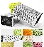 Edelstahlschleifer Multifunktions-Vierseitenhobel Küchenzubehör 9 Zoll