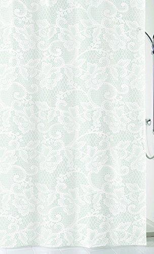 Kleine Wolke Spitze Duschvorhang, Peva, Weiss, 180 x 200 x 0.2 cm