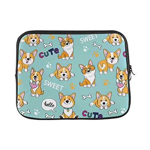 Cute Dogs Corgi Laptop Sleeve Case 13 13.3 Inch Briefcase Cover Protective Notebook Laptop Bag