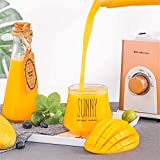 MJY Obst Trauben Entsafter Personal Blender, Smoothie-Hersteller, Edelstahl 4 Blätter für Saft,...