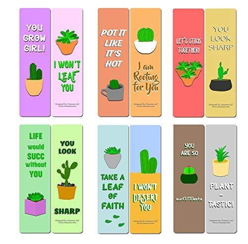 Citazioni ispiranti per segnalibri di artisti (confezione da 12), Segnalibri con citazioni di cactus e piante grasse, confezione da 12, (12-Pack)