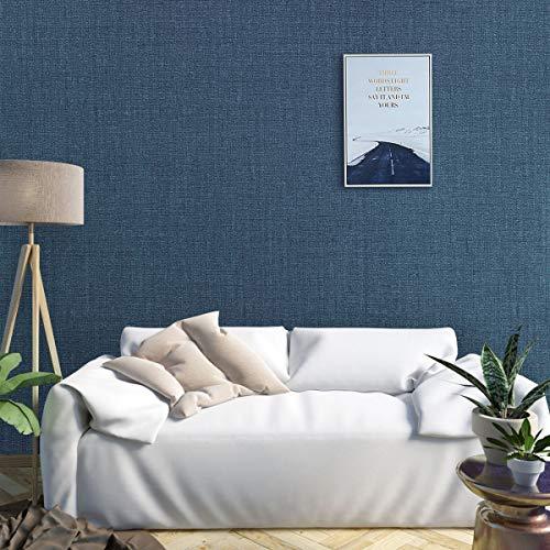 KINLO Verdickte Tapete Selbstklebend Wandtapete 45 * 500CM Blau (8 Typen - 21 Farben) Wandaufkleber wasserfest Tapeten Klebefolie Möbelaufkleber für Wohnzimmer und Schrank