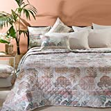 Copriletto Trapuntato Caleffi Matrimoniale Articolo Tropical colore Naturale 260X270 cm