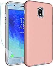 Samsung Galaxy J3 2018/Express Prime 3/J3 V 3rd Gen/J3 Achieve/J3 Orbit/J3 Star/J3 Prime 2/Amp Prime 3/J3 Eclipse 2/J3 Emerge 2 Case with Protector,NiuBox Armor Shock Absorption Phone Case Rose Gold