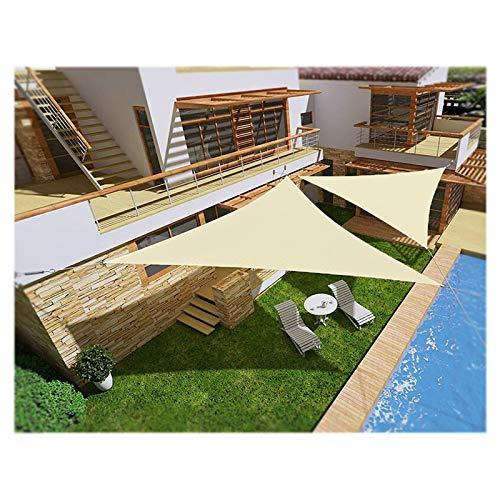 Patio Shack - Toldo de vela triángulo, impermeable, triángulo, anti98% UV, con kit de fijación, ángulo recto, para jardín, toldos, 4 x 4 x 5,7 m, color beige