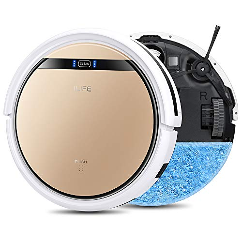 ILIFE V5s Pro, 2-in-1 Robotic Vacuum Cleaner and Mopping, Slim, Automatic Self-Charging, Daily Schedule, Ideal for Pet Hair, Hard Floor...
