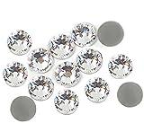 500 strass di cristallo, 4 mm, trasparenti, adesivi (non termoadesivi)