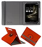 Acm Rotating 360 Leather Flip Case Compatible with Asus Zenfone 3 Ultra Zu680kl Cover Stand Orange