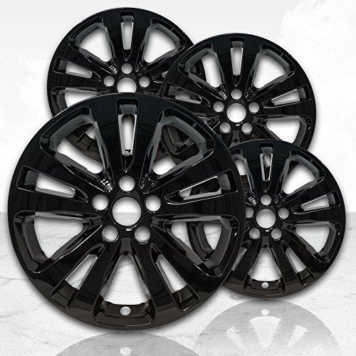 "Upgrade Your Auto 17"" Gloss Black Wheel Skins (Set of 4) for Chrysler 200 2015-2017 -2511"