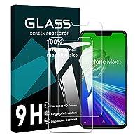 ZenFone Max (M2) フイルム 【2枚セット】ZB633KL ガラスフイルム 日本旭硝子製 強化ガラス 液晶 保護フィルム 業界最高硬度9H 防指紋 貼り付け簡単 気泡なし 極薄 (ZB633KL専用)