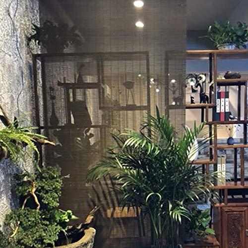 HYDT Store en bambou Kaffee Rollläden Jalousien, Indoor Outdoor Montiert Bambus Roll Up Blind mit Armaturen, 50% Blackout, 55/75/95/105/135 cm Breit (Size : 55×110cm/21.7×43.3in)