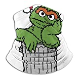Ses-ame Street Oscar The Grouch In His Trash Can Christmas Hat Face Mask Bandanas for Dust、Outdoors、Festivals、Sports