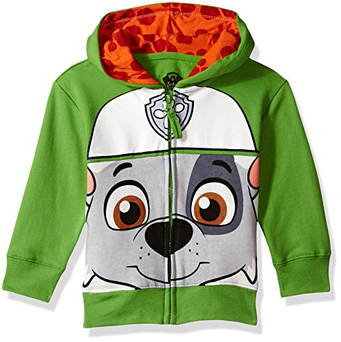 Nickelodeon Toddler Boys' Paw Patrol Character Big Face Zip-Up Hoodies, Green, 2T