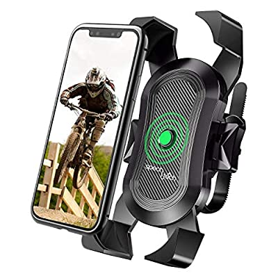 Cell Phone Holder for Bike Handlebar - Compatible with Universal Smartphone - Premium Grade Mount for Sport Bicycles and Motorcycles - Anti Shake and Safe for Bumpy Road Ways