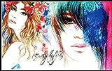 LONGYUCHEN Custom 3D Mural De Seda Figura Patrón Tienda De Tatuajes Adecuada Para La Tienda De Uñas Tienda De Maquillaje Peluquería Tienda De Ropa Fondo De Pantalla Wallpaper,250Cm(H)×360Cm(W)