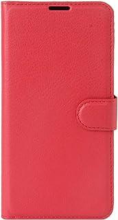ソニーケース Sony Xperia XZ Premiumリッチーテクスチャのためのホルダー&カードスロット&財布(ブラック)と水平フリップレザーケース (色 : Red)